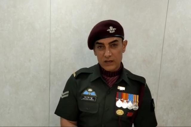 Aamir khan in laal singh chaddha look